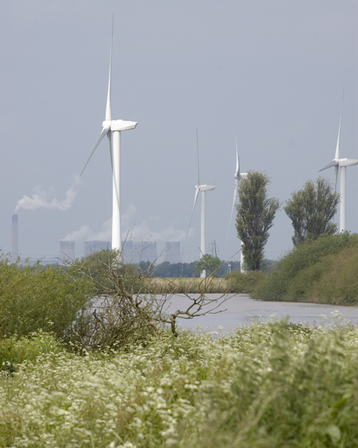 Turbines across the Ouse
