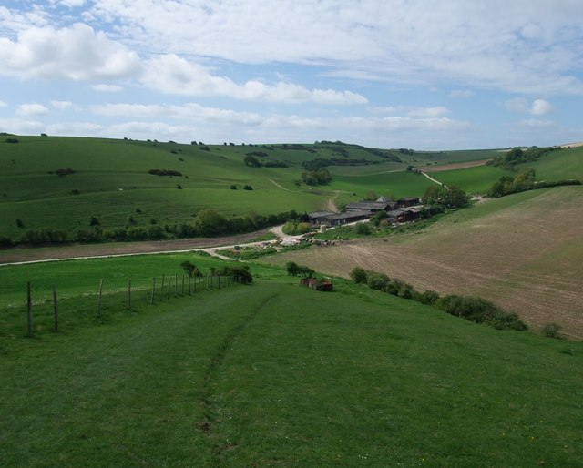 The South Downs Way leaving Mill Hill