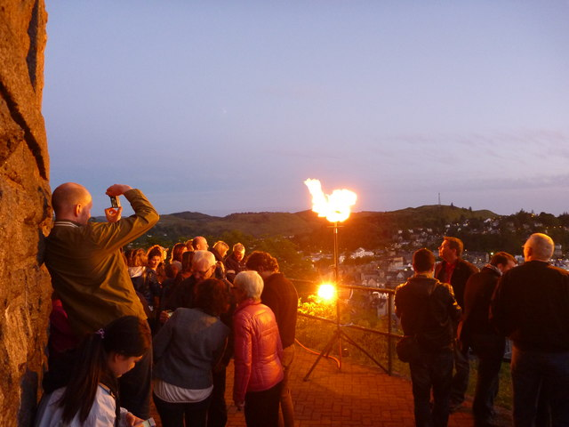 Diamond Jubilee Beacon, McCaig's Tower, Oban - 4th June 2012 : Capturing the Moment