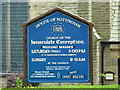 SJ9993 : Church of the Immaculate Conception, Charlesworth, Nameboard by Alexander P Kapp
