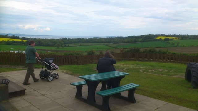 View from the cafe at Craigie Farm Shop.