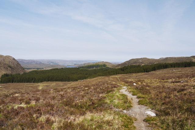 Carnmore path below Torr nan Gabhar