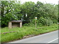 SO2643 : Overgrown route from bus shelter to bus stop, Hardwicke by John Grayson