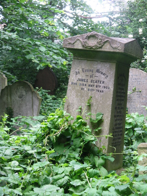1902 gravestone at Abney Park