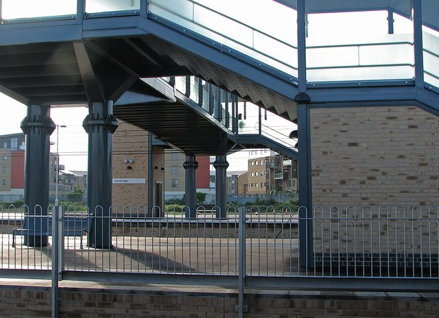 Cambridge Station: the new footbridge