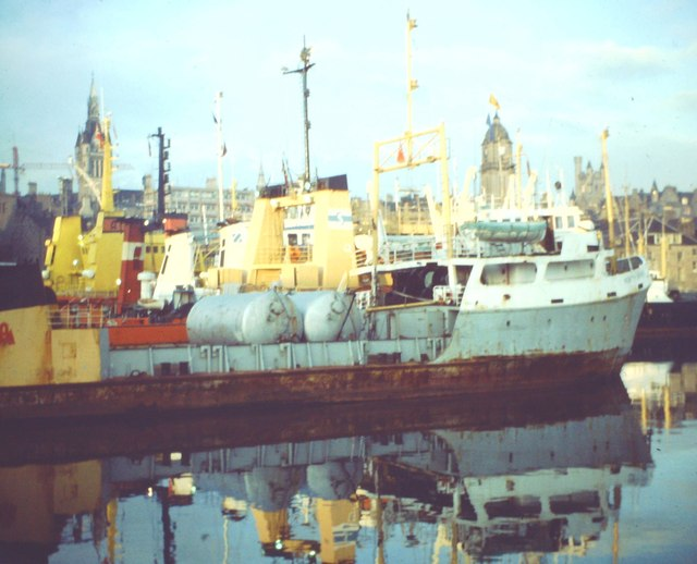 Oil Boats in Aberdeen