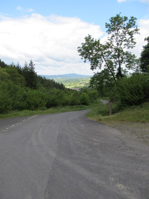 The down lane to Kilbroney Park