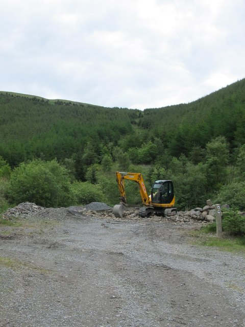 Constructing  mountain bike trail in the Kilbroney Forest