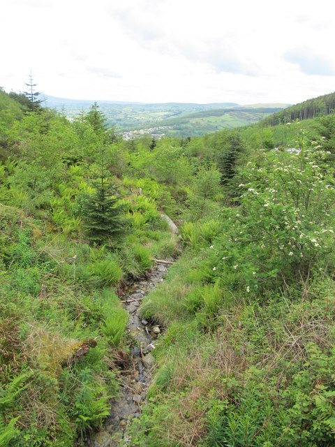 A rocky bed of the Glen Stream