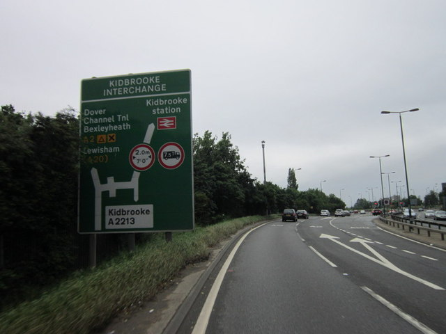 Approaching Kidbrook Interchange