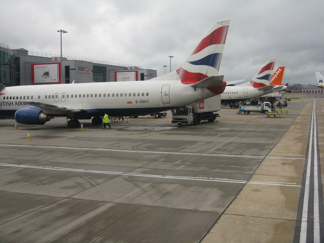 Aircraft at Gatwick North Terminal