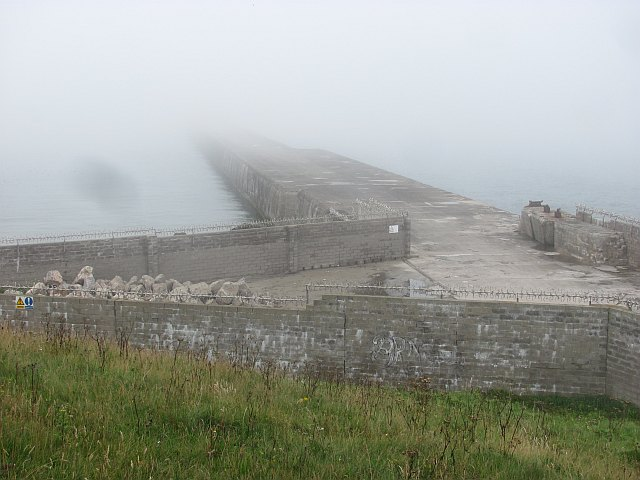 The fortified South Breakwater