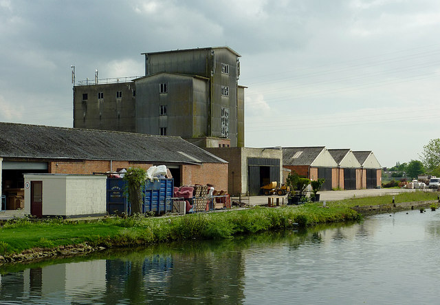 Warehouses and Sandfield Mill near Saul, Gloucestershire