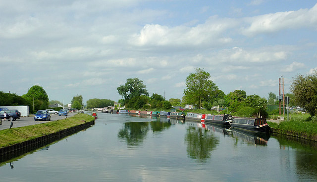 The Gloucester and Sharpness Canal approaching Saul Junction
