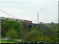 SK0581 : Train passing over eastern viaduct near Chapel Milton by Alexander P Kapp