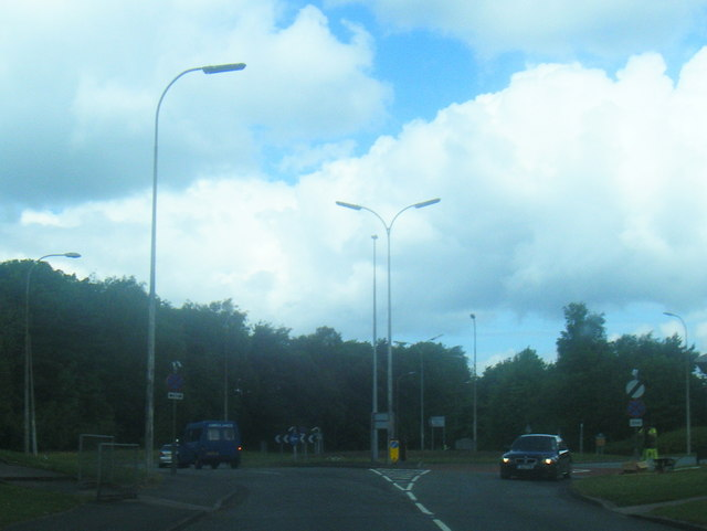 Moss Gate/Birchwood Way roundabout
