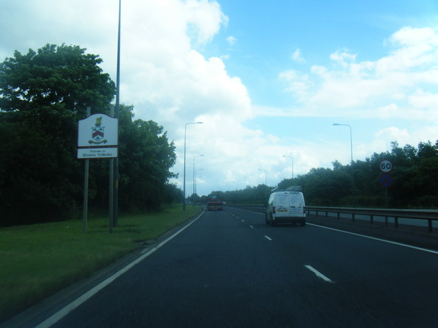A580 eastbound at Tyldesley boundary