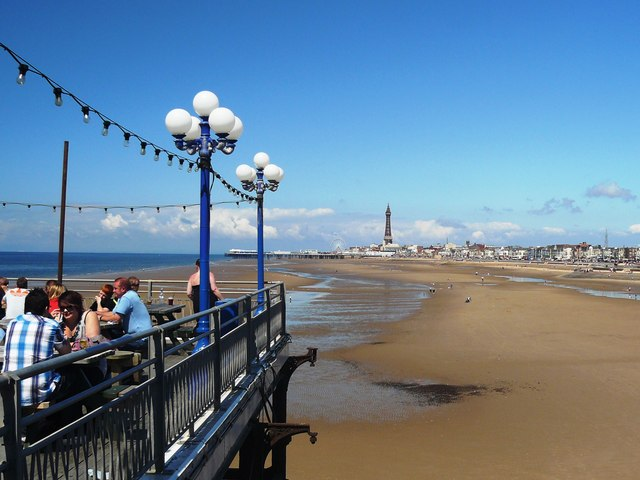 Blackpool Beach at low tide