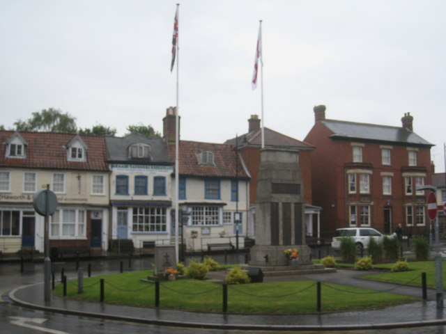 War Memorial and green, East Dereham