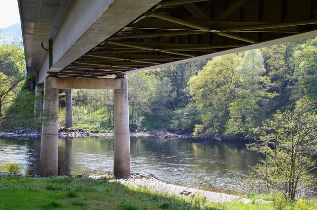 The A9 bridge over the Tay near Dunkeld