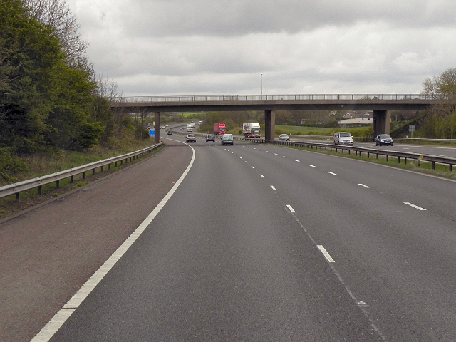 Southbound M61, Hut Lane Overbridge