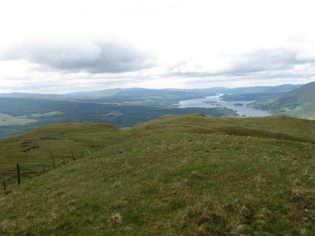 Western ridge of Beinn Donachain