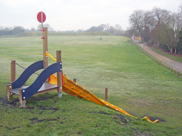 Childrens slide in Sconce Park