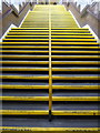 TQ1792 : Stanmore: station steps by Chris Downer