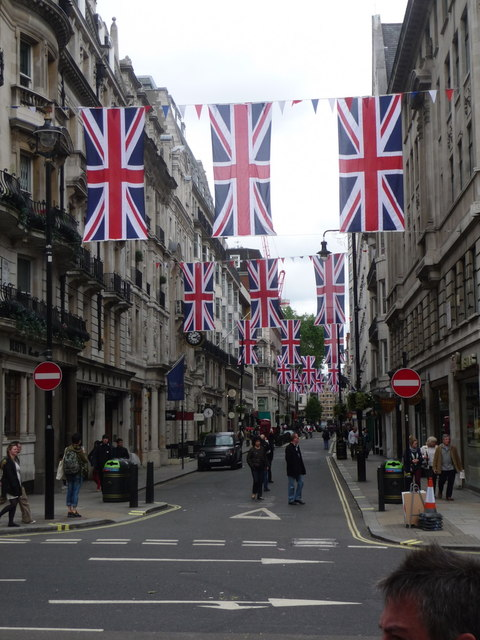 London: Union flags over Jermyn Street
