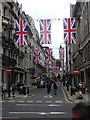 TQ2980 : London: Union flags over Jermyn Street by Chris Downer