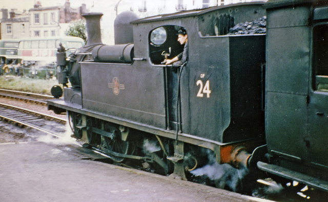 Ex-LSWR O2 class 0-4-4T at Ryde Esplanade