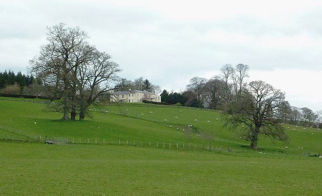 Pasture around Llysdinam House near Newbridge, Powys