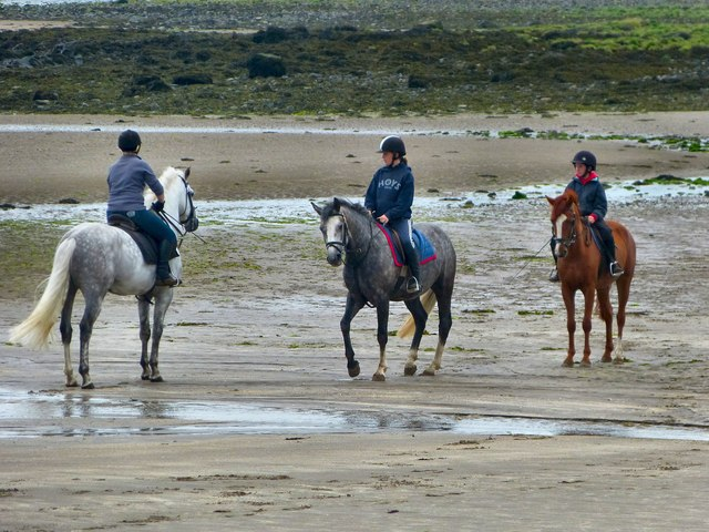 Riding Lesson on Garlieston Beach