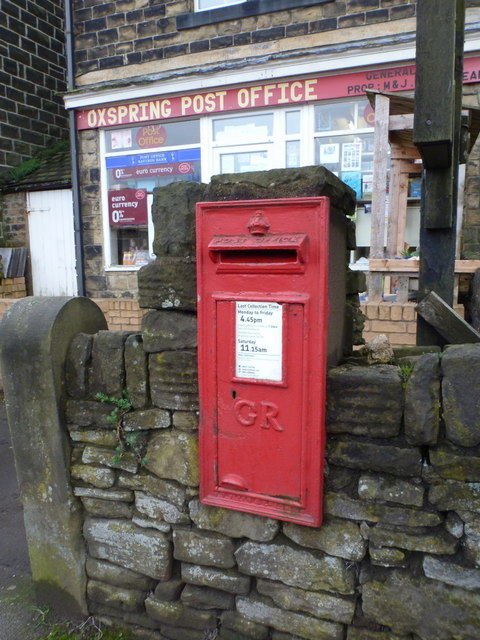 Oxspring: postbox № S36 455, Sheffield Road