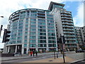 TQ3078 : St George Wharf Vauxhall Bridgefoot by PAUL FARMER