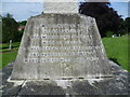 TQ4577 : Inscription on base of Princess Alice Memorial, Woolwich Old Cemetery by Ian Yarham