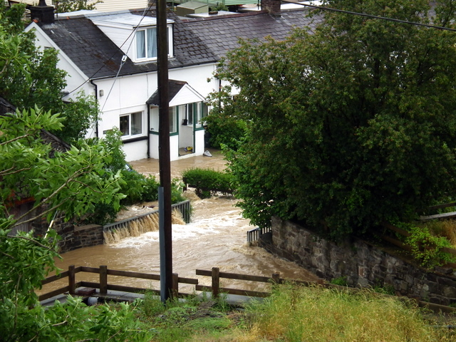 Flooding in Dolypandy, Capel Bangor