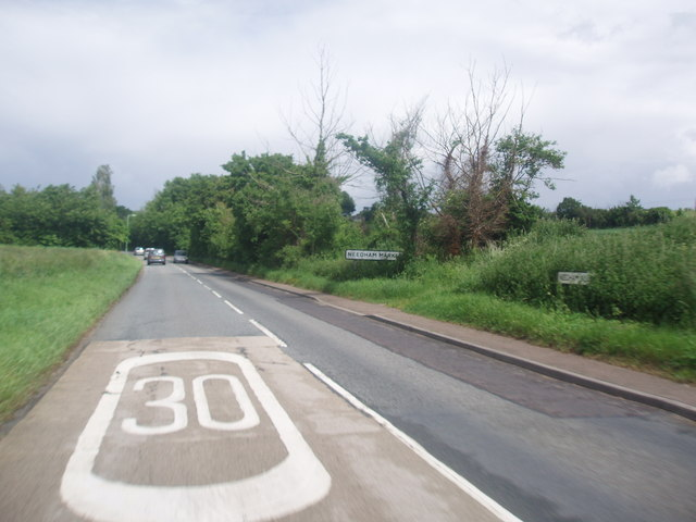 B1078 into Needham Market