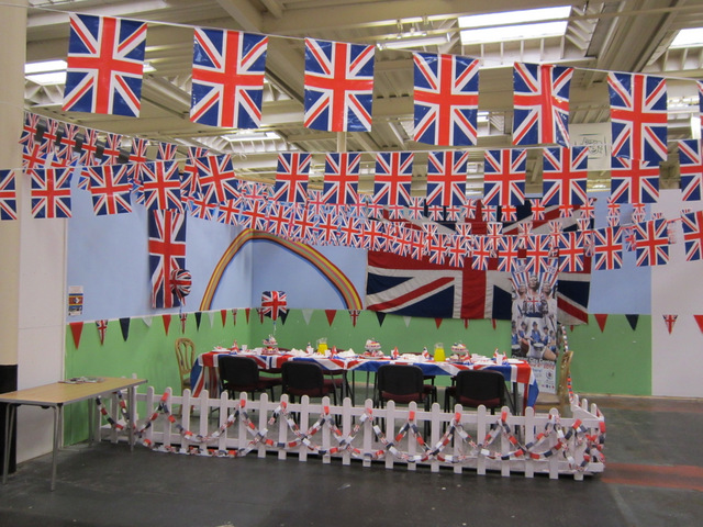 Diamond Jubilee display in Chester market