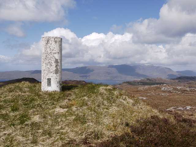 Trig point of Auchtertyre Hill
