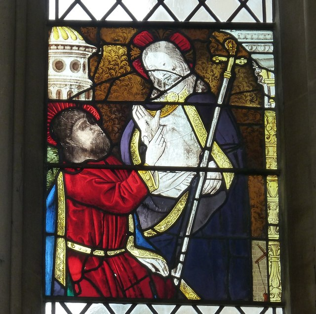 Ancient Glass Panel, Exeter Cathedral (2)