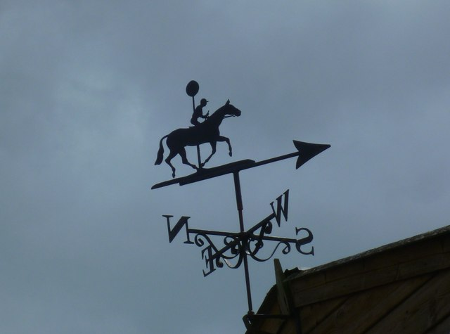 Weathervane near Gallops Farm