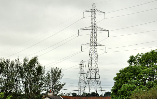 Pylons and power lines, Kingsmoss, Newtownabbey (3)