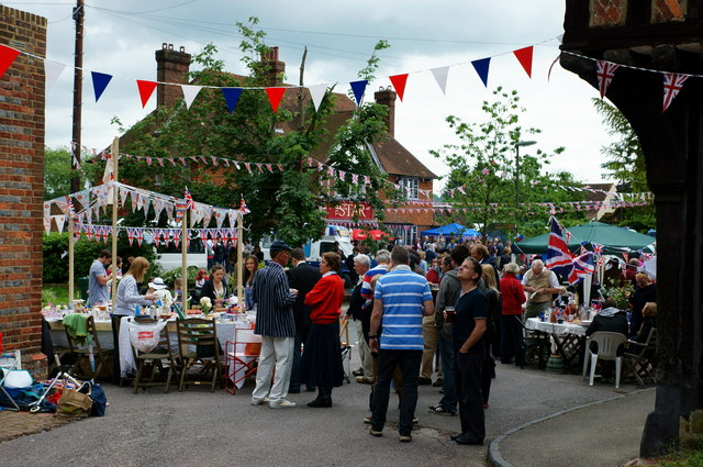 Jubilee Celebrations at Lingfield, Surrey