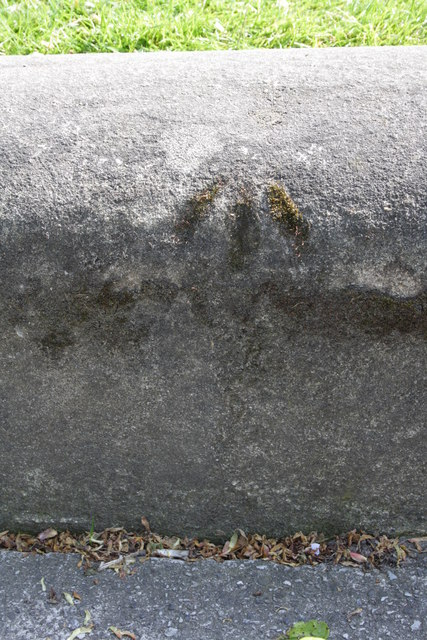 Benchmark on wall of West Park