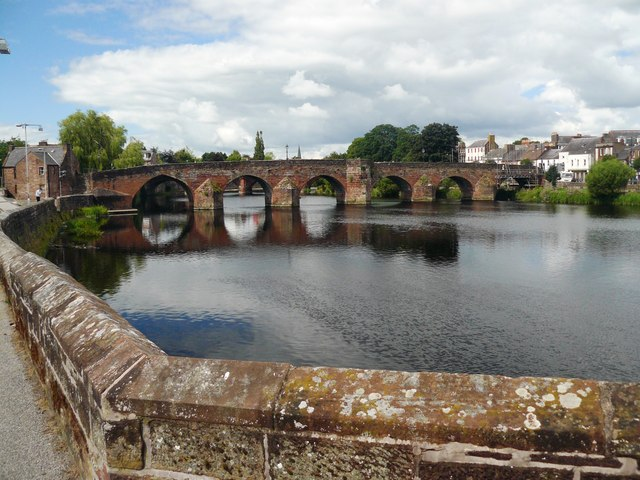 Old Bridge over the River Nith Dumfries
