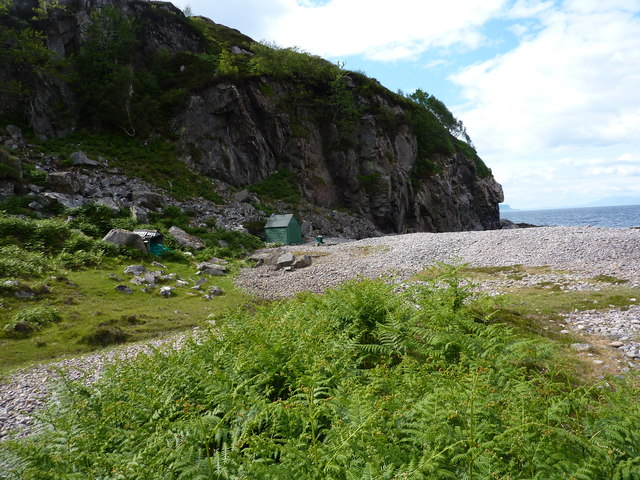 Beach and cliffs at Eilagadale