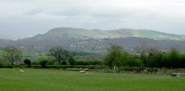 View across the Ithon Valley near Llandrindod Wells