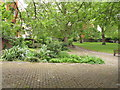 TQ3282 : Garden of Bunhill Fields Burial Ground by David Hawgood