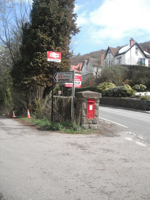 Sign to Grindleford Station